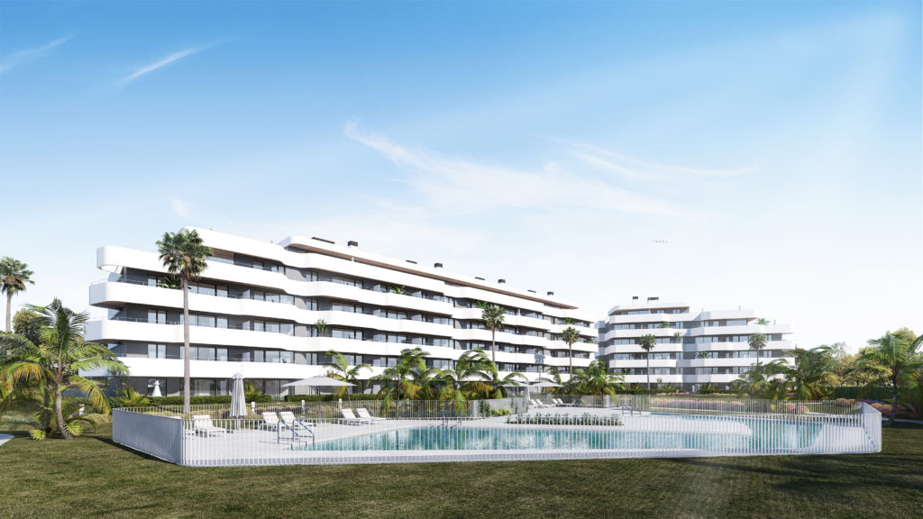 New development beach front
